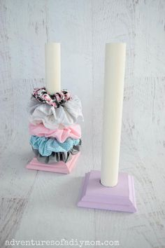 Diy Scrunchie Holder - Learn how to make a DIY scrunchie holder with just a few supplies and minimal tools. This stand is - Diy Crafts For Girls, Diy Home Crafts, Creative Crafts, Fun Crafts, Diy Creative Ideas, Edible Crafts, Diy Craft Projects, Craft Ideas, Organizing Hair Accessories