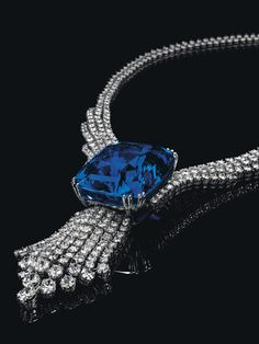 Laurence Graff, acquired a pair of fancy colored diamond ear pendants, featuring a 6.95-carat, pear-shaped fancy vivid blue diamond, and a 6.79-carat, pear-shaped fancy vivid pink diamond, for more than $15.8 million.