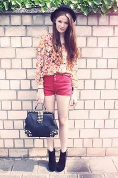 Shorts + Floral Tops