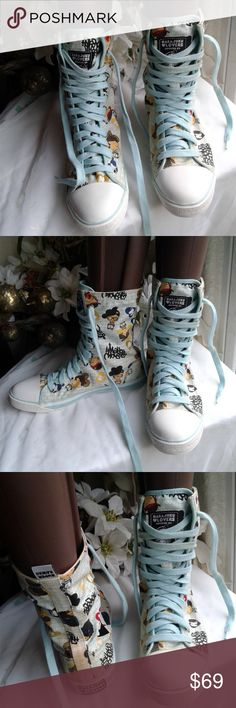 HARAJUKU LOVERS GWEN STEFANI HIGH-TOP SNEAKERS ~~~A FATAL ATTRACTION TO CUTENESS~~~ HIGH-TOP DESIGN-TOTALLY AWESOME~~~~HARAJUKU LOVERS~~HIGH-TOP SNEAKERS~~~~ Harajuku Lovers Shoes Sneakers