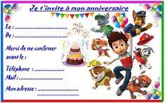 Etiquettes et invitations PAT PATROUILLE pour anniversaire