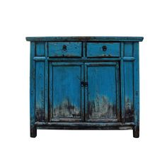 Blue Distressed Furniture, Funky Painted Furniture, Chalk Paint Furniture, Refurbished Furniture, Colorful Furniture, Repurposed Furniture, Furniture Makeover, Furniture Decor, Furniture Painting Techniques