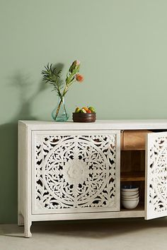 Anthropologie Lombok Buffet. I love the detail in the doors. What a great piece. #afflink