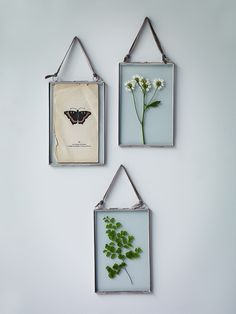 Three Delicate Hanging Frames- Silver - Indoor Living