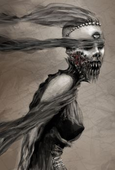 """Inspiration: Banshee ✯ Kiss  :: Artist Kat Lee ✯  I think this is what """"Karma"""" would look like."""