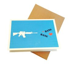 Bang Bang  Military Greeting Card by Shopmailcall on Etsy, $5.00