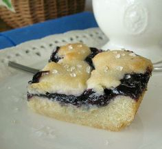 Blueberry Dessert Bars. Refrig. cookie dough and pie filling. Easy and delicious!