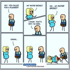 Tickle me Tuesday!  Plumbing Humor....