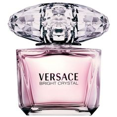 Women's Versace Bright Crystal Eau De Toilette ($64) ❤ liked on Polyvore featuring beauty products, fragrance, no color, flower perfume, versace, fruity perfumes, versace fragrance and flower fragrance