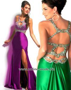 Sexy Abendkleid in Lila oder Grün von www.online-mode.biz