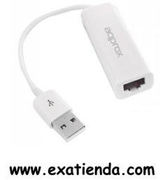 Ya disponible Adaptador Approx de USB a red 10/100mps    (por sólo 18.89 € IVA incluído):   - Este adaptador le permitirá agregar un puerto RJ-45 adicional a su equipo mediante un puerto Usb. Tiene una tasa de transferencia hasta 100Mbps, con la que podrá navegar y transferir archivos cómodamente. Es compatible con tablets con Android, el cual le proporcionará un puerto RJ-45 y estabilidad en la conexión aumentando su conectividad.  - ¡Aumente la conectividad de sus