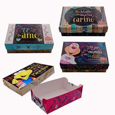 Cajas de Regalo Decorative Boxes, Packaging, Gifts, Home Decor, Canela, Molde, Frases, Decorated Boxes, Cute Love Pictures