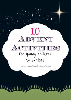10 Advent Activities for Young Children | Check out the awesome Children's Ministry at Custer Road UMC | http://crumc.org/ministries/children/ | @CusterRoadUMC | http://www.facebook.com/CusterRoadUMC | #CRUMC