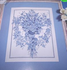 """Design Works BLUE SCONCE 9"""" x 12"""" Counted Cross Stitch Kit"""
