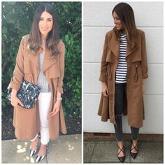 "How have we only just found this coat? It's the perfect solution to layer up during London's ""summer"" season and is the perfect update of our FC camel coat we lived in all… Topshop Jeans, Zara Jeans, French Connection Coats, Cos Bags, Strappy Flats, Maxi Coat, Camel Coat, Jimmy Choo Shoes, Work Fashion"