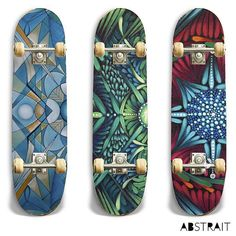 Pick 1 2 or 3 #skateboarding #skateboard #deck #design #fineart #art #abstract #painting
