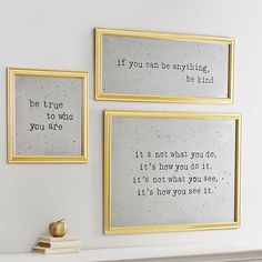 Inspire your space with our Antique Sentiment Mirrors. With golden frames, a vintage-inspired finish and an inspiring phrase, they add a bit of glamour and a lot of character to your room. Just choose the phrase that speaks to you – or all of them!