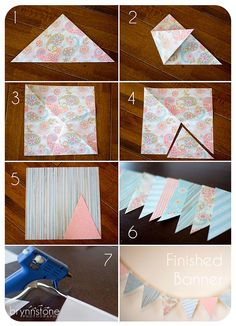 DIY: Scrapbook Paper Bunting - Inexpensive & great for photography backdrops, parties & room decor!