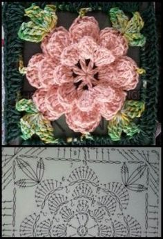 28+ ideas crochet granny square pattern flower beautiful #crochet