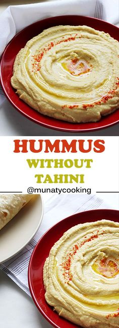 Hummus without tahini. Smooth and silky hummus but with tahini (sesame paste) the same authentic flavor that will impress your guest and your family. Quick to make and quick to disappear. Gourmet Recipes, Snack Recipes, Cooking Recipes, Snacks, Dip Recipes, Dinner Recipes, Potato Recipes, Yummy Recipes, Dinner Ideas