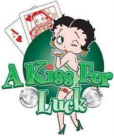 Betty Boop Pictures Archive: casino -  a kiss for luck