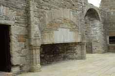 The Bishop & Earl's Palaces, Kirkwall, Orkney Island, Scotland. Enormous fireplace!