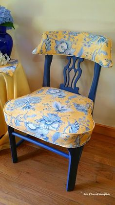 redoityourselfinspirations toile chair makeover