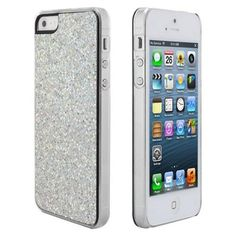 Amazon.com: niceEshop Silver Sparkling Glitter Bling Hard Case Cover fit for the new Iphone5 5G +Free Screen Protector +Free niceEshop Cable...