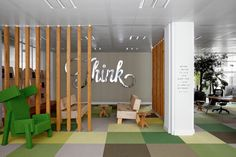 Ad agency office JWT in Amsterdam. Fun office! Love the small quote near the doorway.