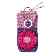 Cell Phone Cozy (Telefoonhoesje) - Lovely - BeaG on flickr - There's a lot of really nice crochet work on this photostream - Ruthiejoy's favourites