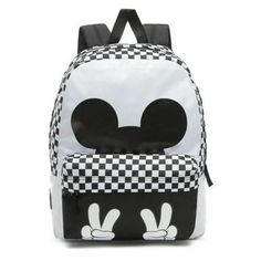 31bc1bdf69 New Limited Edition Vans Disney Classic Checkerboard Mickey Backpack Black  White  VANS  Backpack Mickey