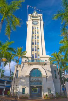 Aloha Tower in Oahu, Hawaii by Russell Gilbert