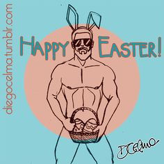 Easter bunny is here!!! #HappyEaster #bunny #illustration #sexybunny #easter #eastereggs #art #drawing #sketch #doodle #sketching #PaschalEgg #sexy #guy #sexyguy #funny #easterbunny https://www.facebook.com/diegocelmailustrador