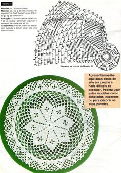 White doily with diagram by antonia