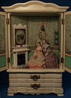 12th scale illuminated cabinet room scene. by GaleElenaBantock