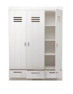 Woood Basic Connect locker 3 deurs kledingkast met lades - IKenIK.nl