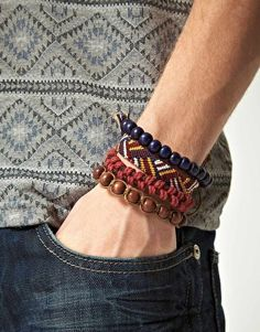 Mens Bracelets Boys Friendship Beaded Stack Bracelet Designs