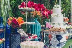 Vanessa&Leonel Mesa de bolo e doces Studio Decorato Império buffet