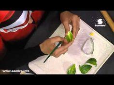 طريقة عمل زهرة الزنبق بالسيراميك من برنامج قسطبينة