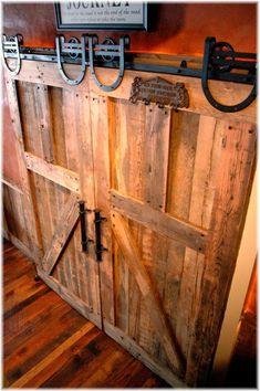 Barn door with Blacksmith accent - via Sandy Bentley - #WesternHome