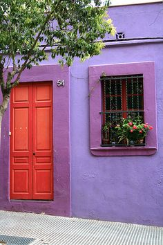 red and purple #doors