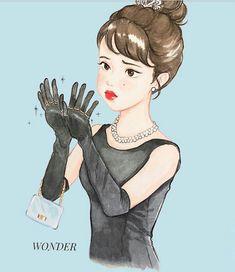 I found a cute chibi of her. Kpop Drawings, Anime Couples Drawings, Cute Drawings, Dramas, Drama Funny, K Wallpaper, Sad Pictures, Korean Art, Korean Drama