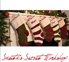 Personalized Christmas Stockings by HolidayJoyCreations on Etsy, $7.99