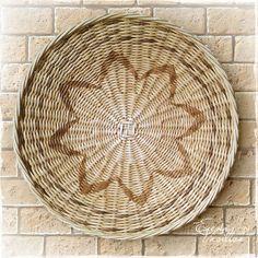 """Купить Блюдо плетеное """"Сияние"""" настенная тарелка - плетеная тарелка, блюдо, настенная, тарелка на стену"""