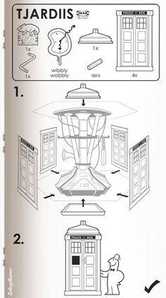 Ikea Instruction Dr Who Tardis (Tjardiis) The Tardis, Tardis Blue, Doctor Who, Eleventh Doctor, Dr Who, Build A Lightsaber, Serie Doctor, Film Science Fiction, Sci Fi Movies