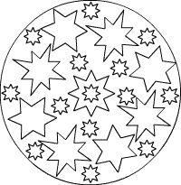 stern mandalas zum ausdrucken ausmalen für kinder/kleinkinder krippenkinder ausmalbilder