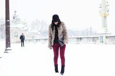Paris, snow, look,