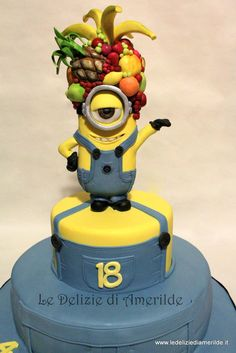 Despicable me. - Cake by Luciana Amerilde Di Pierro Pretty Cakes, Beautiful Cakes, Amazing Cakes, Cupcakes, Cupcake Cakes, Kid Cakes, Cupcake Ideas, Fondant Cakes, Minions