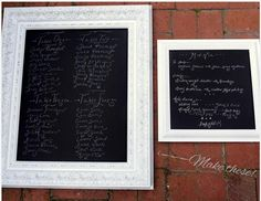 How-to make your own chalkboard-like display with this trick by Valley & Co.