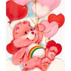 ❤️For Bella and Cindy❤️ Bear Valentines, Vintage Valentines, Teddy Bear Cartoon, Teddy Bears, Care Bears Vintage, Care Bear Party, Mason Jar Cards, Bear Pictures, Rainbow Brite